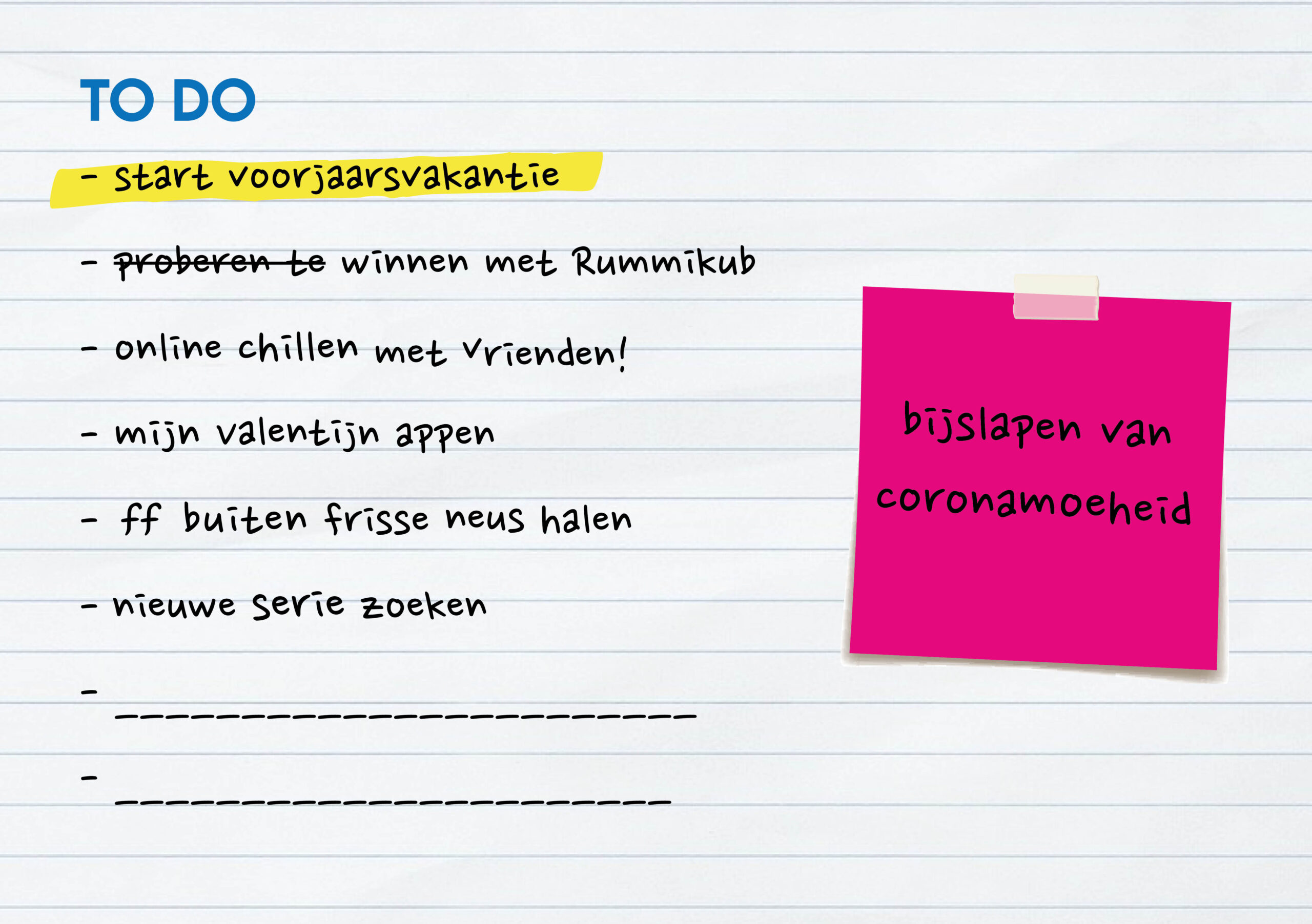Concept & Vormgeving van leerlingenpresentje. Een gadget en kaartje voor de leerlingen van het Merletcollege in Cuijk, Grave & Mill.